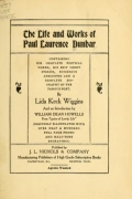 Cover of The life and works of Paul Laurence Dunbar