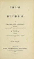 "Cover of ""The lion and the elephant"""