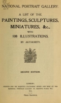 Cover of A list of the paintings, sculptures, miniatures, &c., with 108 illustrations