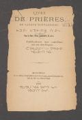 Cover of Livre des prières en langue montagnaise
