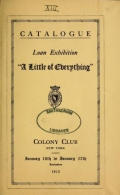 Cover of Loan exhibition