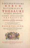 Cover of Locupletissimi rerum naturalium thesauri accurata descriptio, et iconibus artificiosissimis expressio, per universam physices historiam t. 2