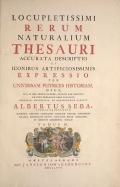 Cover of Locupletissimi rerum naturalium thesauri accurata descriptio, et iconibus artificiosissimis expressio, per universam physices historiam