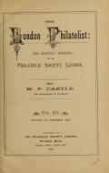 Cover of The London philatelist