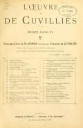 Cover of L'Œuvre de De Cuvilliès