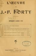 Cover of L'œuvre de J.-F. Forty