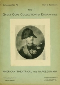 Cover of The magnificent collection of engraved portraits formed by the late Edward R. Cope ..., American theatrical and Napoleoniana