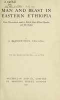 Cover of Man and beast in eastern Ethiopia