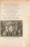 Manuale di varj ornamenti componenti la serie de' vasi antichi : si' di marmo che di bronzo esistenti in Roma e fuori / opera raccolta disegnata ed incisa da Carlo Antonini