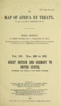 Cover of The map of Africa by treaty v. 3