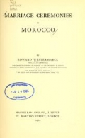 Cover of Marriage ceremonies in Morocco