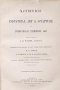 """Cover of """"Masterpieces of industrial art & sculpture at the International exhibition, 1862"""""""