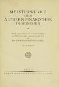 Cover of Meisterwerke der Älteren Pinakothek in München ...