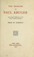 "Cover of ""The memoirs of Paul Kruger"""