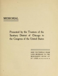 Cover of Memorial, presented by the Trustees of the Sanitary District of Chicago to the Congress of the United States