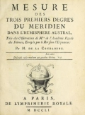 """Cover of """"Mesure des trois premiers degrés du méridien dans l'hémisphere austral"""""""