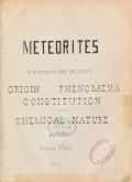 Cover of Meteorites