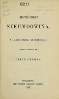 Cover of Methodist hymns