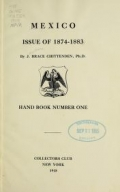 """Cover of """"Mexico issue of 1874-1883"""""""