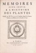 """Cover of """"Mémoires pour servir à l'histoire des plantes"""""""