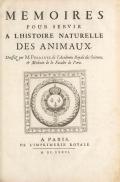 Cover of Mémoires pour servir à l'histoire naturelle des animaux