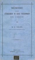 Cover of Mémoire sur l'etablissement de lignes télégraphiques en Chine