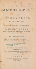 Cover of Of microscopes and the discoveries made thereby v. 1