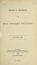 Cover of Minutes of proceedings of the Royal Artillery Institution v.21 (1894)
