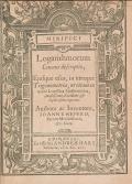 Cover of Mirifici logarithmorum canonis descriptio, ejusque usus, in utraque trigonometria; ut etiam in omni logistica mathematica, amplissimi, facillimi, & ex