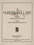 """Cover of """"A modern lullaby /"""""""