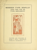 Cover of Modern type display and the use of type ornament