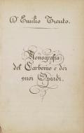 Monografia del carbonio e dei suoi ossidi Emilio Trento