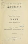 Cover of Mozes bi naltso̲s aḷse̲dihigi Ġodesẓiẓ holyẹhigi inda yistai̲ni̲ḷḷi ba Hani Mark naltso̲s y̲e yiki-iscinigi
