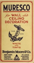 """Cover of """"Muresco for wall and ceiling decoration  white and tints"""""""