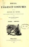 Cover of Mœurs, usages et costumes de tous les peuples du monde