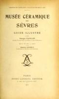 """Cover of """"Musée ceramique de Sèvres"""""""