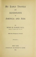 """Cover of """"My early travels and adventures in America and Asia v.1"""""""