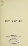 Cover of Myths of Ífe