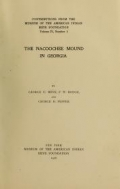 Cover of The Nacoochee mound in Georgia