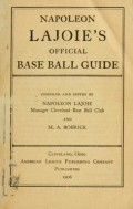 "Cover of ""Napoleon Lajoie's official base ball guide"""