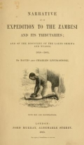 "Cover of ""Narrative of an expedition to the Zambesi and its tributaries"""