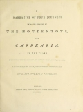 "Cover of ""A narrative of four journeys into the country of the Hottentots, and Caffraria"""