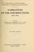 Cover of Narratives of the insurrections, 1675-1690