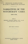 Cover of Narratives of the witchcraft cases, 1648-1706