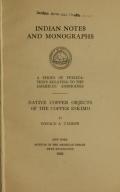 Cover of Native copper objects of the Copper Eskimo