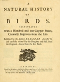 Cover of A natural history of birds v. 1