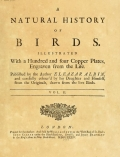 Cover of A natural history of birds v. 2