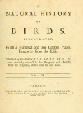 Cover of A natural history of birds v. 3