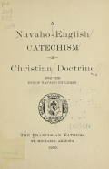 Cover of A Navaho-English catechism of Christian doctrine for the use of Navaho children