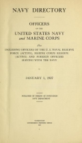 Cover of Navy directory